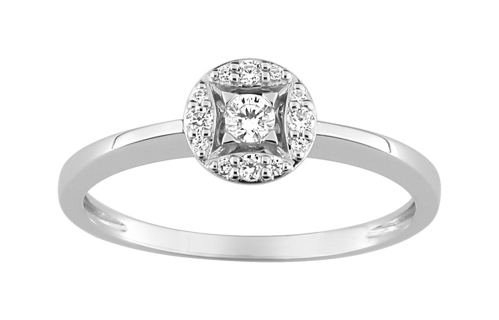 Bague Diamants 0.14ct GH-SI Or 750 Blanc