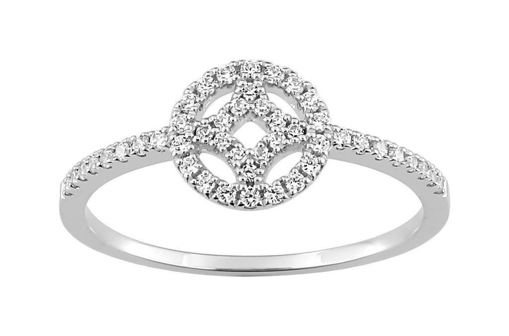 Bague Diamants 0.21ct GH-SI Or 750 Blanc
