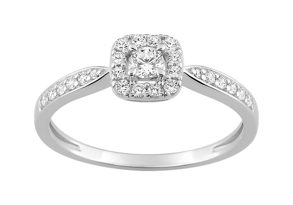 Bague Diamants 0.29ct GH-SI Or 750 Blanc