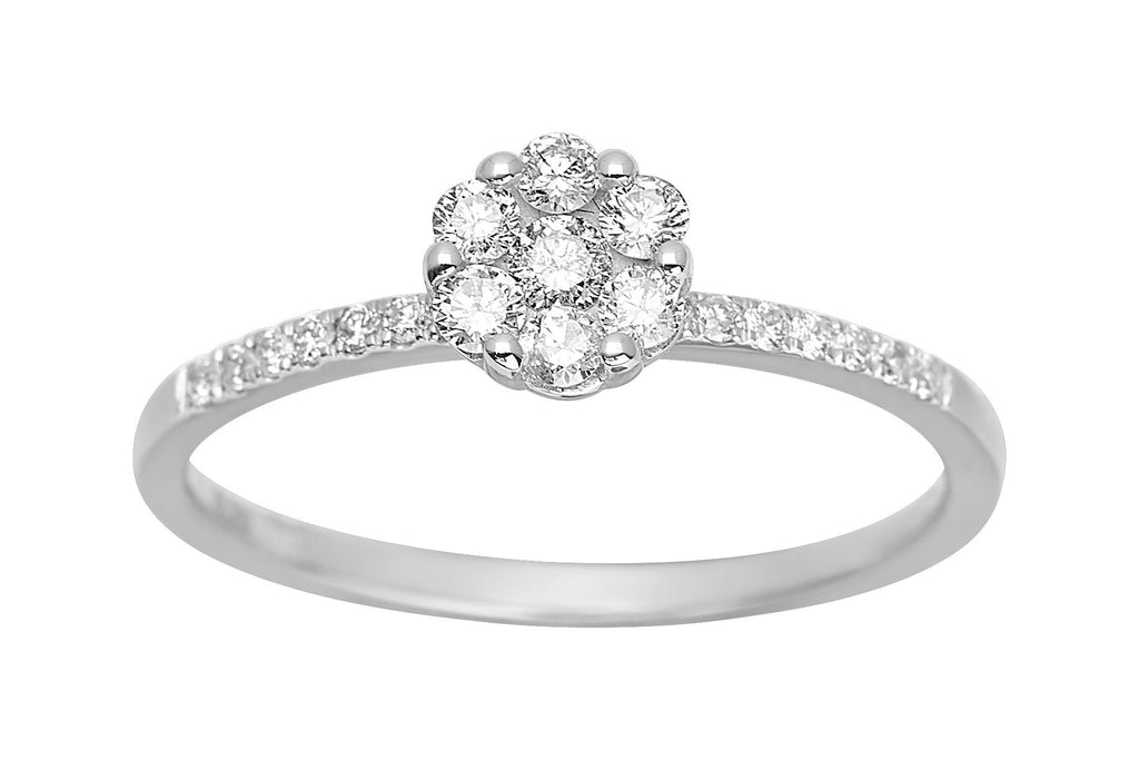 Bague Diamants 0.30ct GH-SI Or 750 Blanc