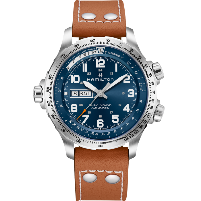 HAMILTON -  Khaki Aviation X-Wind Day Date Auto - H77765541