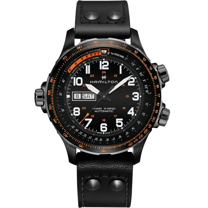 HAMILTON -  Khaki Aviation X-Wind Day Date Auto - H77785733