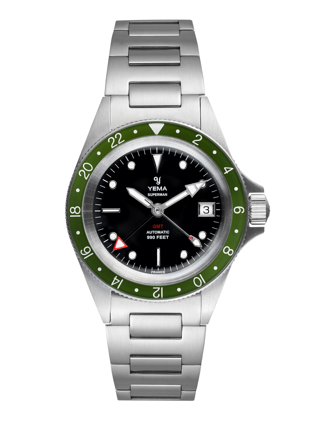 YEMA Superman GMT Khaki Green - 41 mm