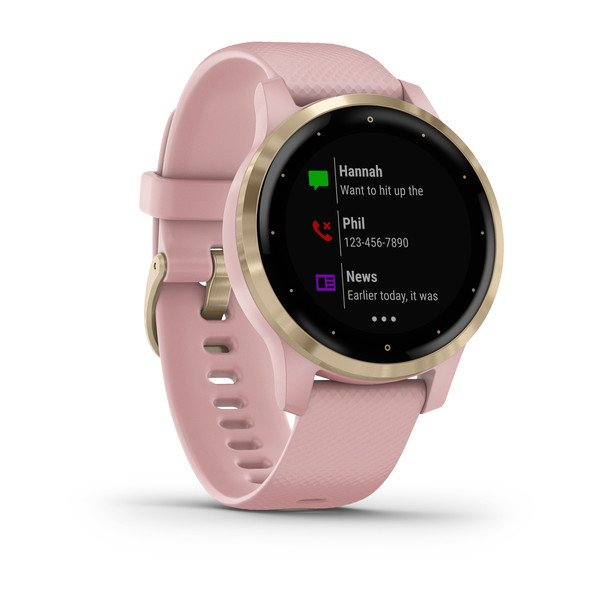 GARMIN - vívoactive 4s - Light Gold avec bracelet silicone rose - 010-02172-32