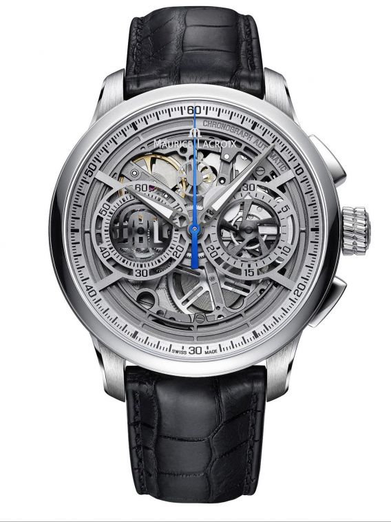 MAURICE LACROIX MASTERPIECE Chronograph Skeleton 45mm - MP6028-SS001-001-1