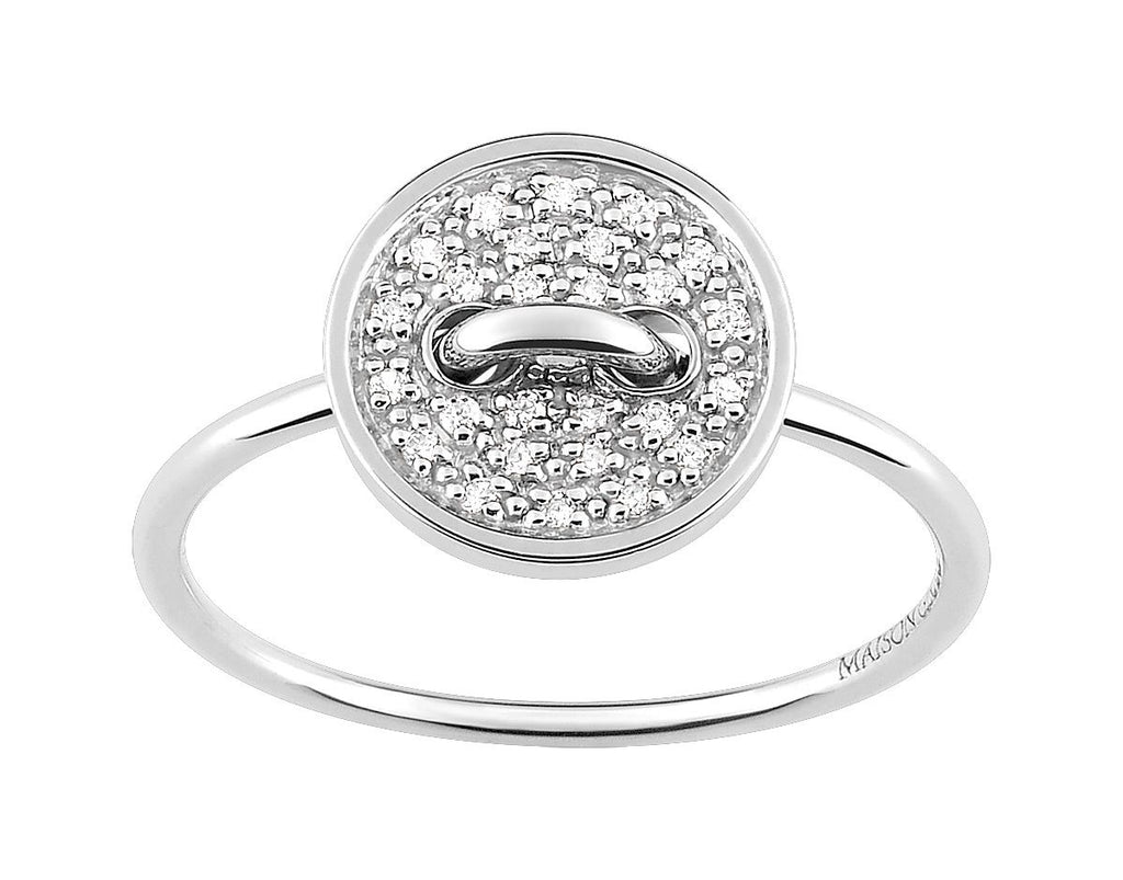 Bague Les boutons de Louise Diamants 0.10ct GH-SI Or 750 Blanc