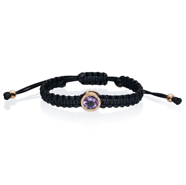 Must Bracelet - Amethyst and Diamonds - Must Jewelry