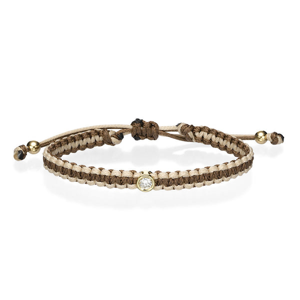 Diamond bracelet brown
