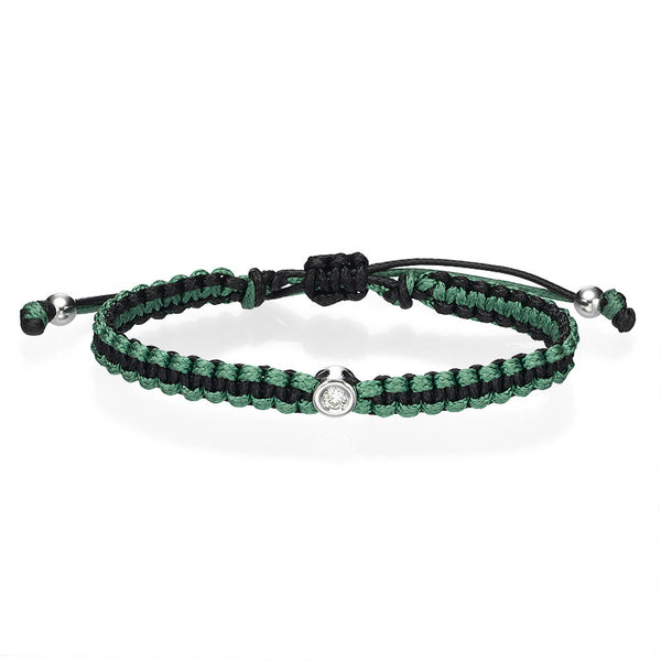 Diamond bracelet green
