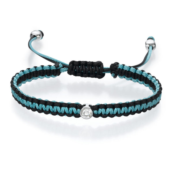 Must Jewelry Black and Blue Diamond Bracelet