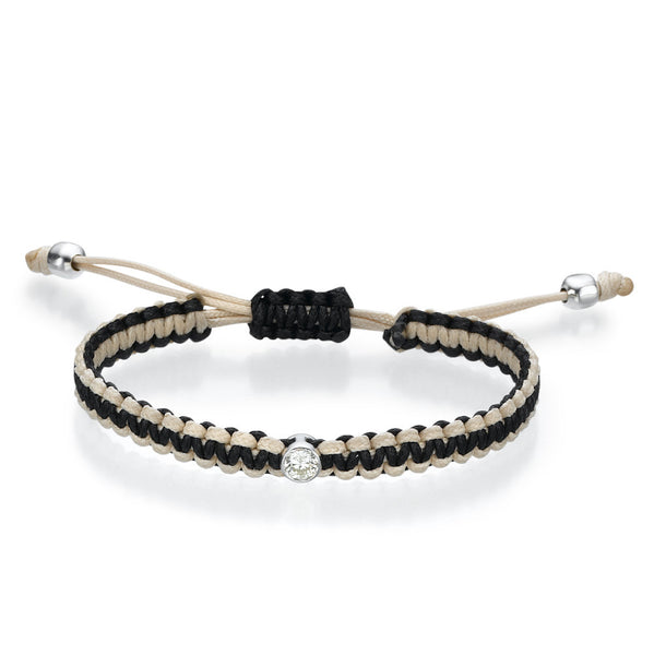 Must Jewelry Black and Beige Diamond Bracelet