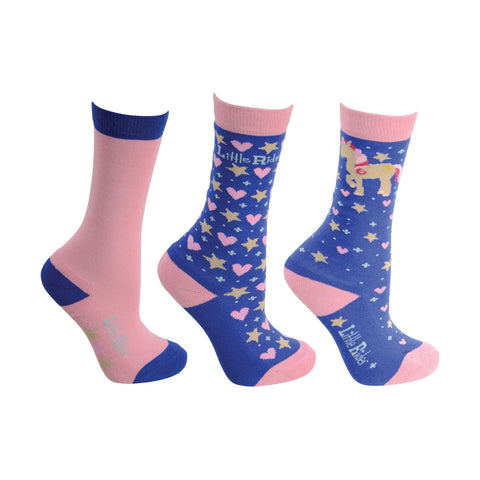 Little Rider Star In Show Socks- Pack of 3