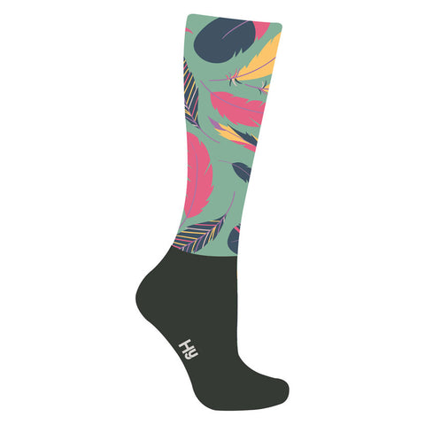HyFASHION Enchanted Feather Pattern Riding Socks
