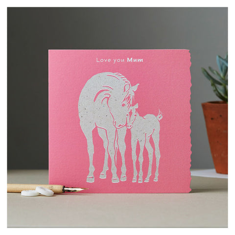 Deckled Edge Colour Block Pony Card