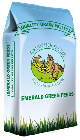 Emerald Green Grass Pellets