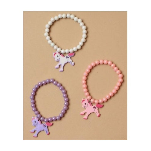 Molly & Rose Stretch Bracelet with Pony Charm