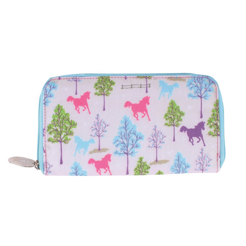 Milly Green Playful Ponies Long Wallet