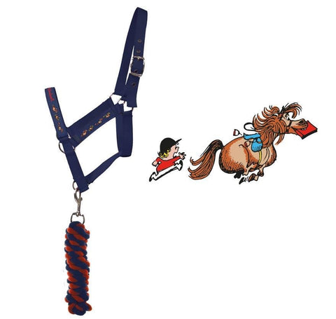 Hy Equestrian Thelwell Head Collar and Lead Rope Set