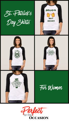 St. Patrick's Day T-Shirts for Women for Sale