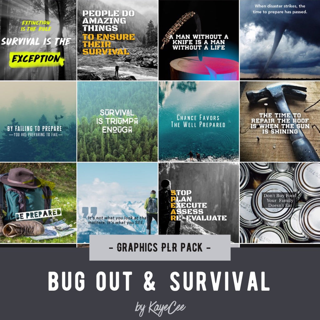 Survival Social Media Images - PLR Graphics Pack