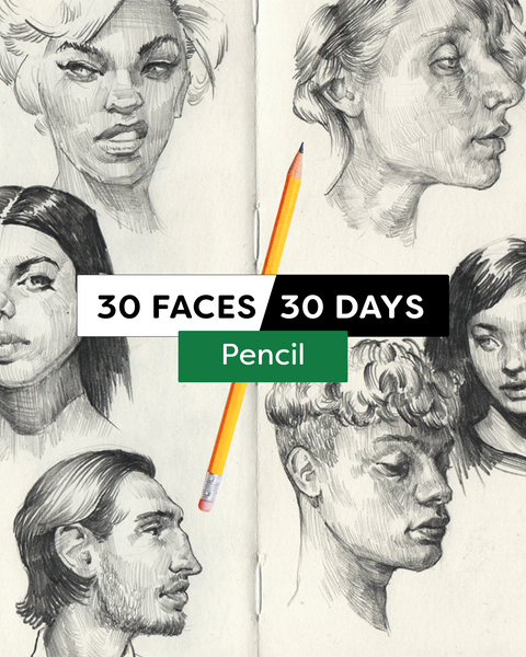 30 Faces/30 Days - Pencil