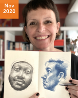 Drawing Faces with France - November 2020