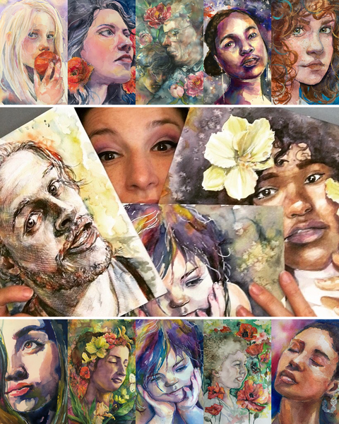Portraits in Watercolor with Lauren Arno