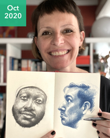 Drawing Faces with France - October 2020