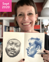 Drawing Faces with France - September 2020