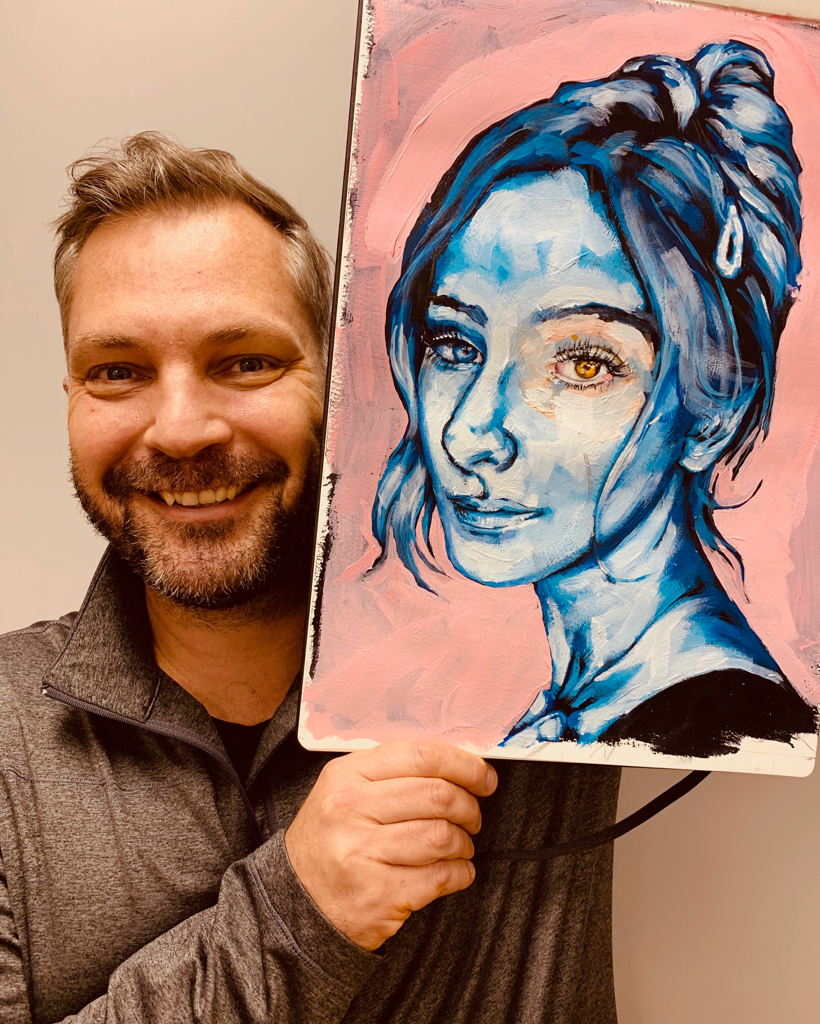 Portrait in Acrylic with Karl Staub