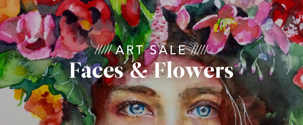 Faces & Flowers Art Collection