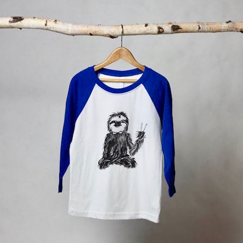 Jerry Sloth Baseball Tee - Violett Valentine - Children Clothing - Boutique