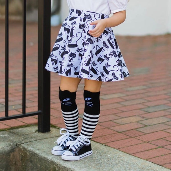 Catastic Knee Socks - Violett Valentine - Children Clothing - Boutique