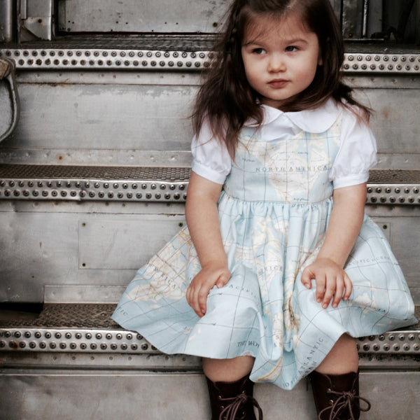 Signature Map Dress - Violett Valentine - Children Clothing - Boutique