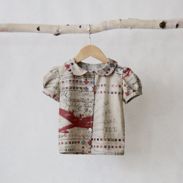 Aviator Blouse - Violett Valentine - Children Clothing - Boutique