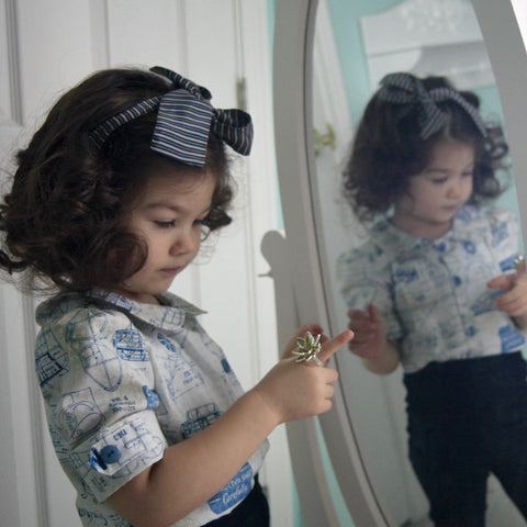 Aeronautical Blouse - Violett Valentine - Children Clothing - Boutique