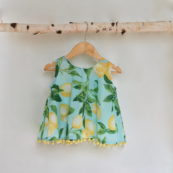 Lemon Triangle Top - Violett Valentine - Children Clothing - Boutique
