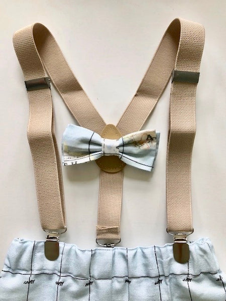 Map Bow-tie and Suspender Set