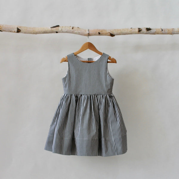 Audrey Striped Dress - Violett Valentine - Children Clothing - Boutique