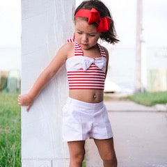 White Avery Shorts - Violett Valentine - Children Clothing - Boutique