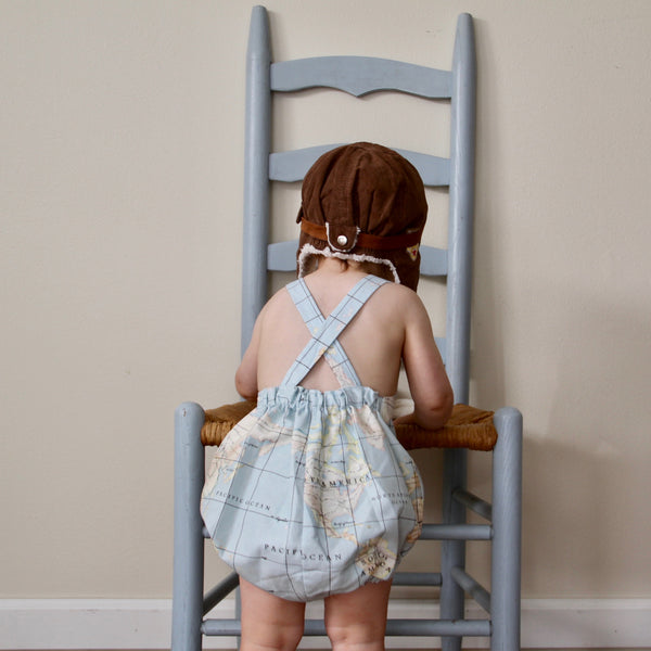 Map Romper - Violett Valentine - Children Clothing - Boutique