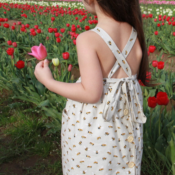Honey Bee Apron - Violett Valentine - Children Clothing - Boutique