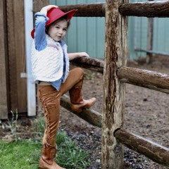 Faux-Suede Buckaroos- Camel - Violett Valentine - Children Clothing - Boutique