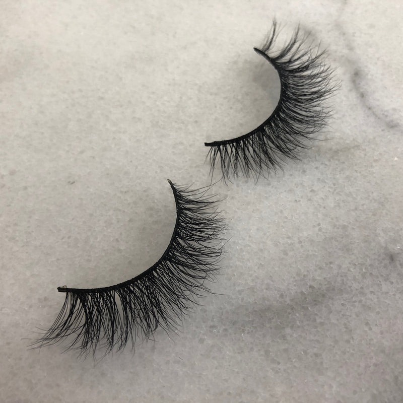 Natural Nancy-3D mink eyelashes-Flawless Fleur