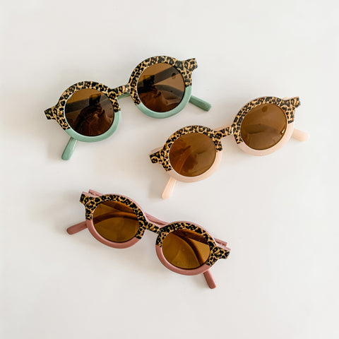 Baby Sunnies - Leopard Print 2-tone glasses