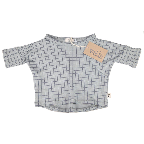 Luna Boxy Top - Check