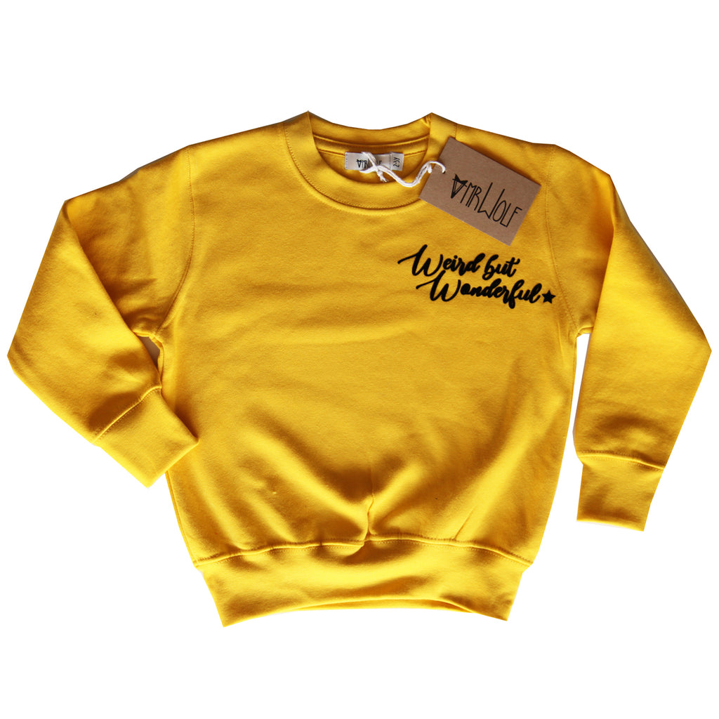 Sweatshirt Yellow - Weird but Wonderful