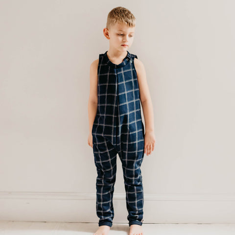 Bertie Jumpsuit - Navy Check