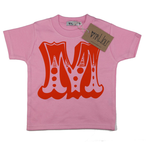 Circus Letter T-Shirt - Pink