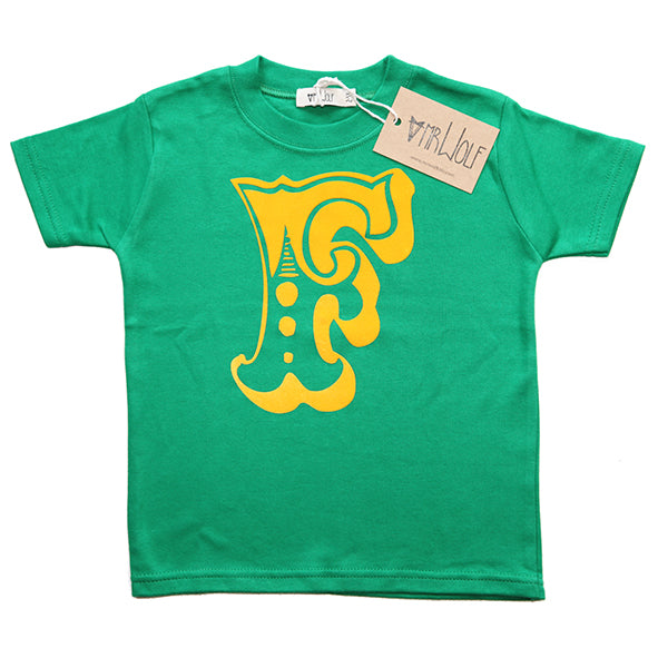 Circus Letter T-Shirt - Green